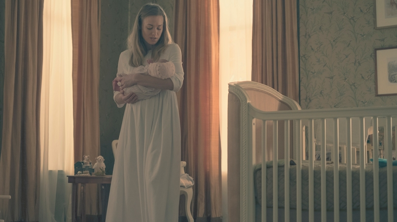 "THE HANDMAID'S TALE -- ""Postpartum"" -- Episode 212 -- Offred is sent to a familiar place. Nick is rocked by Gileadís brutal response to a crime. Emily is assigned to a mysterious new house. Serena Joy (Yvonne Strahovski), shown. (Photo by: George Kraychyk/Hulu)"