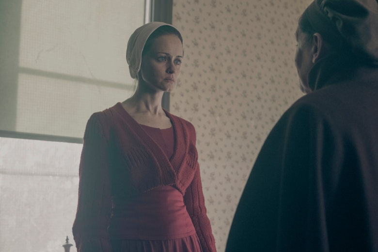 "THE HANDMAID'S TALE -- ""The Word"" -- Episode 213 -- Serena and the other Wives strive to make change. Emily learns more about her new Commander. Offred faces a difficult decision. Ofglen (Alexis Bledel), shown. (Photo by: George Kraychyk/Hulu)"
