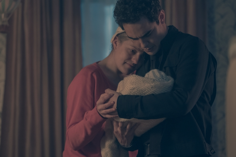 "THE HANDMAID'S TALE -- ""The Word"" -- Episode 213 -- Serena and the other Wives strive to make change. Emily learns more about her new Commander. Offred faces a difficult decision.  Offred (Elisabeth Moss) and Nick (Max Minghella), shown. (Photo by: George Kraychyk/Hulu)"