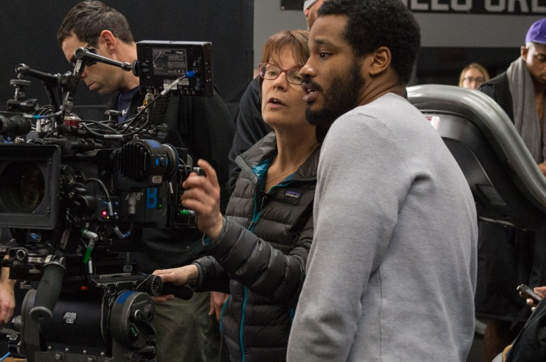 "Maryse Alberti and Ryan Coogler on the set of ""Creed"""