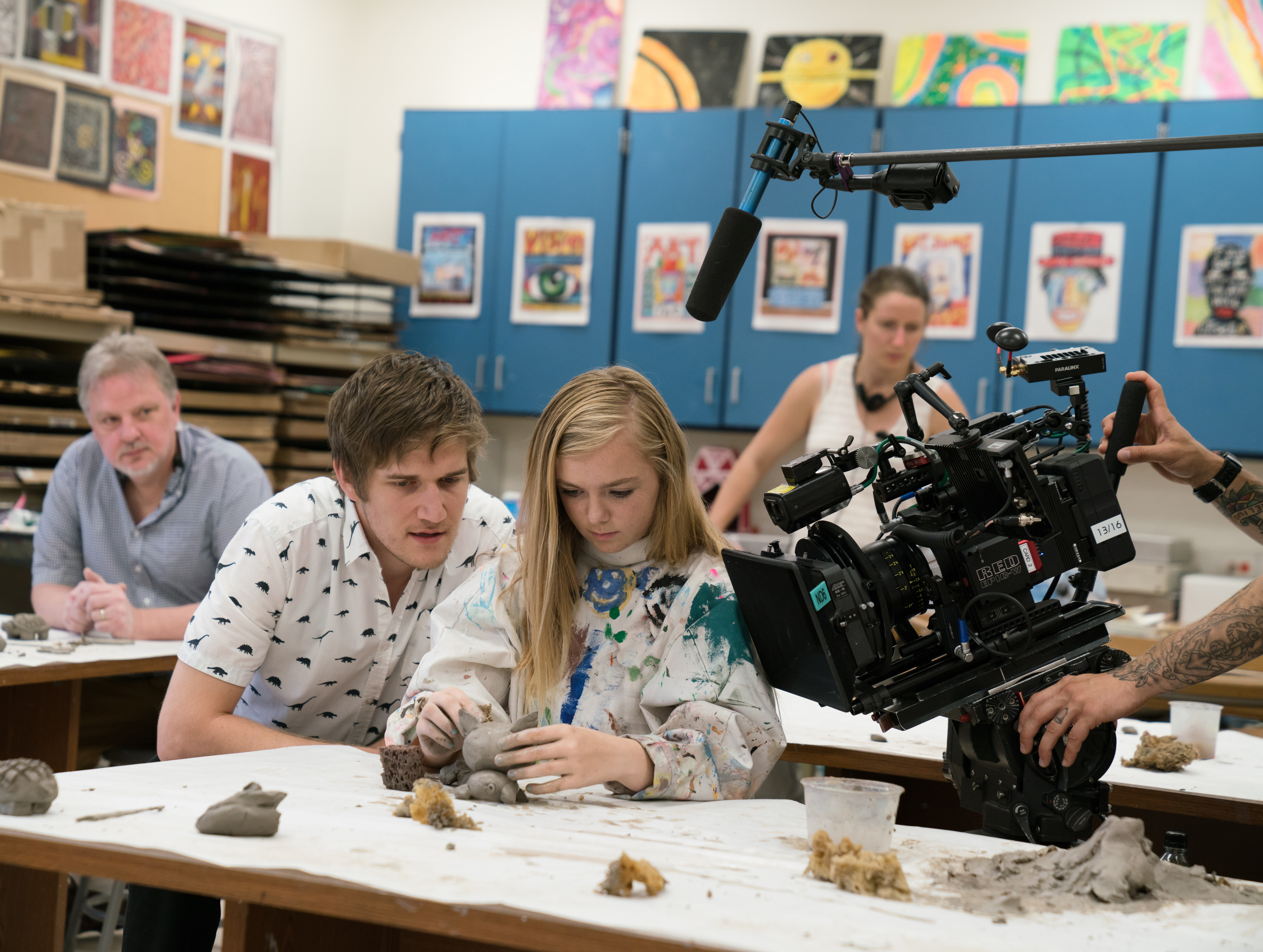 "Bo Burnham and Elsie Fisher shooting ""Eighth Grade"