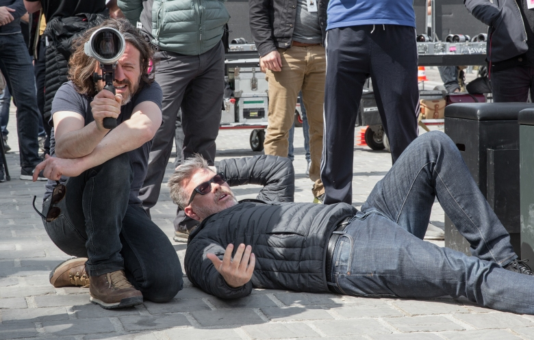 "Director of Photography Rob Hardy and Director Christopher McQuarrie on the set of ""Mission Impossible - Fallout"""