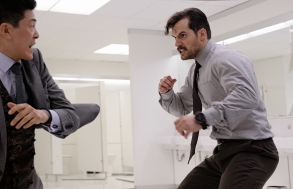 """Liang Yang and Henry Cavill in """"Mission Impossible - Fallout"""""""