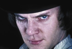No Merchandising. Editorial Use Only. No Book Cover Usage.Mandatory Credit: Photo by Warner Bros/Hawk Films/Kobal/REX/Shutterstock (5885876an)Malcolm McDowellA Clockwork Orange - 1971Director: Stanley KubrickWarner Bros/Hawk FilmsBRITAINScene StillDrugsScifiL'Orange mécanique