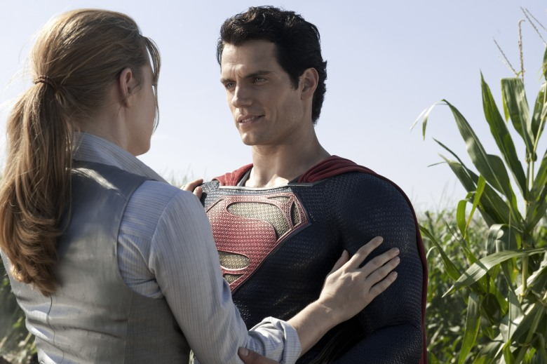 No Merchandising. Editorial Use Only. No Book Cover Usage.Mandatory Credit: Photo by Warner Bros/Kobal/REX/Shutterstock (5886119az)Amy Adams, Henry CavillMan Of Steel - 2013Director: Zack SnyderWarner BrosUSAScene StillSuperman - Man Of Steel