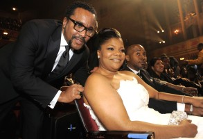 Lee Daniels, Mo'Nique Lee Daniels talks to Mo'Nique at the 41st NAACP Image Awards, in Los AngelesNAACP Image Awards Show, Los Angeles, USA