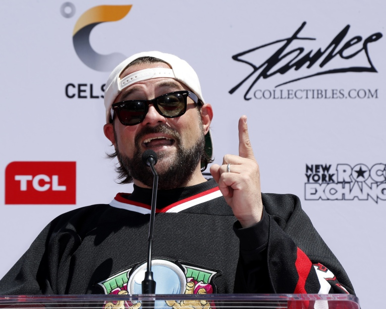 Kevin SmithStan Lee handprints and footprints ceremony, Hollywood, USA - 18 Jul 2017US actor/writer Kevin Smith speaks during US comic book artist Stan Lee's handprints and footprints in cement ceremony in the forecourt of the TCL Chinese Theatre IMAX in Hollywood, California, USA 18 July 2017. Lee, chief creative force behind Marvel Comics, was immortalized in cement in the first ever handprint-footprint ceremony organized and hosted by fans.