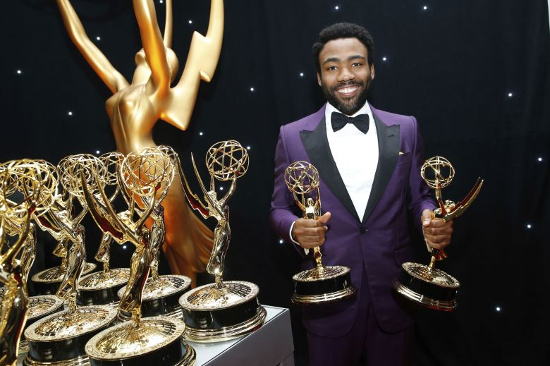 Donald Glover poses at the trophy table during the 69th Primetime Emmy Awards, at the Microsoft Theater in Los Angeles69th Primetime Emmy Awards - Trophy Table, Los Angeles, USA - 17 Sep 2017