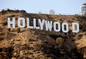 The Hollywood Sign is pictured, in Los AngelesHollywood Landmarks, Los Angeles, USA