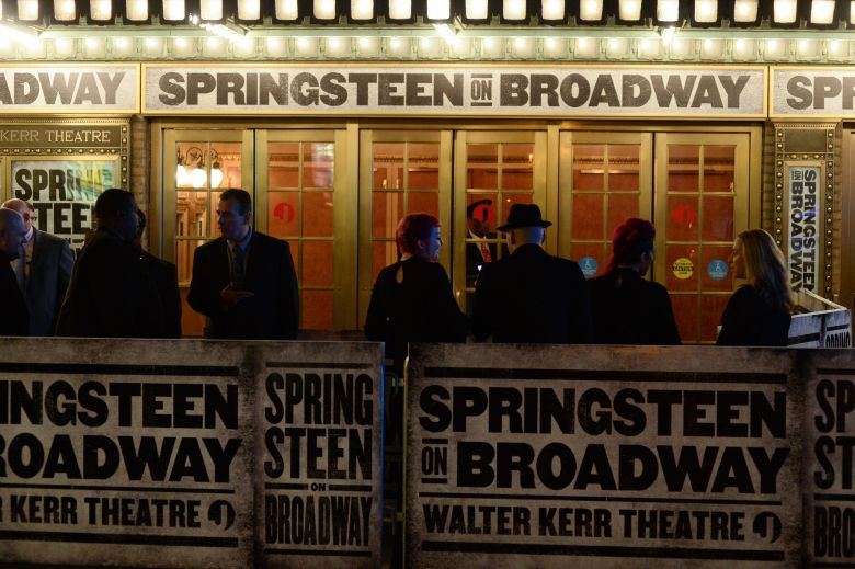 Springsteen on Broadway marquee'Springsteen on Broadway' opening night, New York, USA - 12 Oct 2017