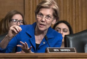 Sen. Elizabeth Warren, D-Mass., asks questions during a hearing of the Senate Health, Education, Labor, and Pensions Committee, on Capitol Hill in WashingtonPrescription Drug Cost, Washington, USA - 12 Dec 2017