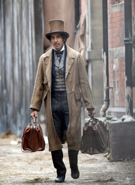 Dev Patel filming 'The Personal History of David Copperfield'