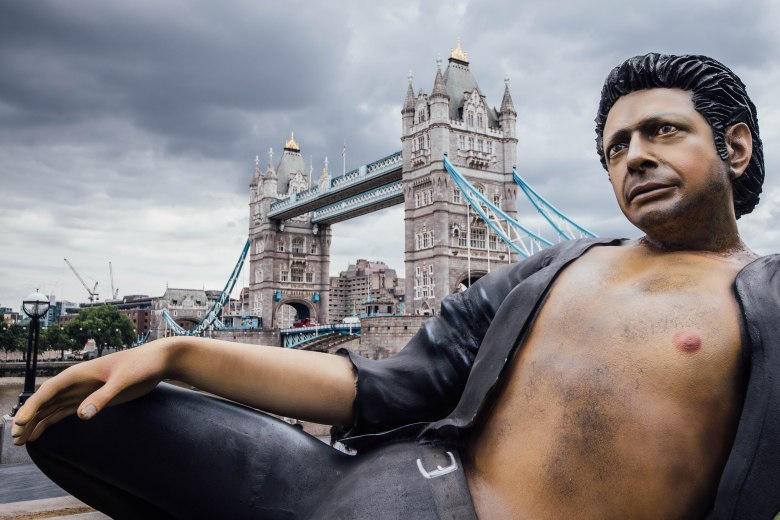 Jeff Goldblum Statue in London...