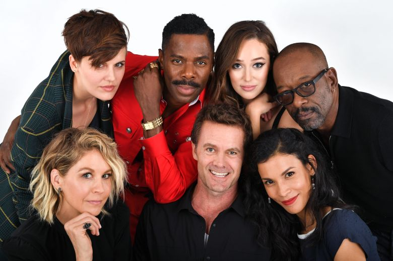 Maggie Grace, Colman Domingo, Alycia Debnam Carey, Lennie James, Jenna Elfman, Garret Dillahunt and Danay Garcia - 'Fear the Walking Dead'Exclusive - Variety Portrait Studio Comic-Con, Day 1, San Diego, USA - 19 Jul 2018