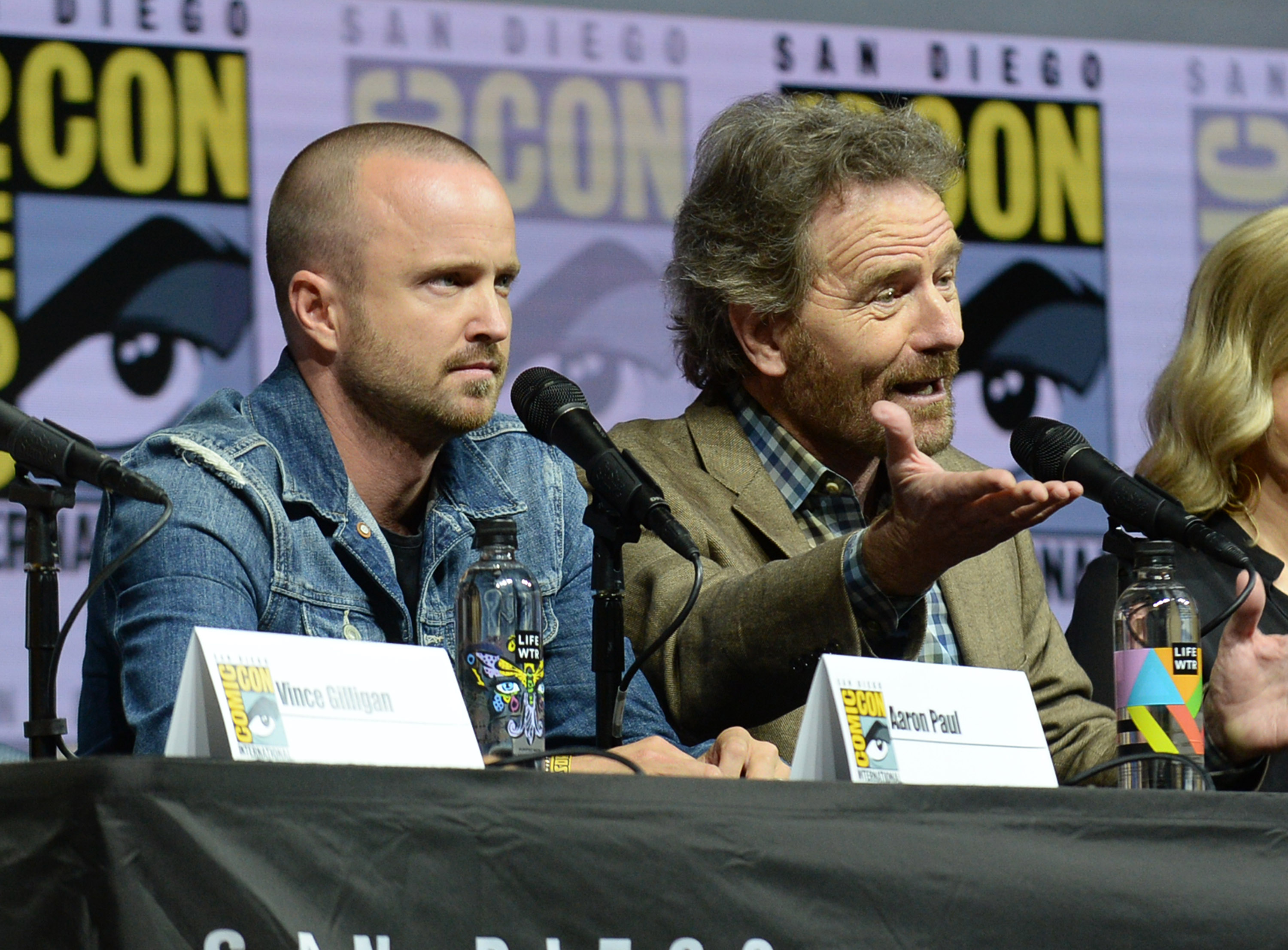 Aaron Paul and Bryan Cranston'Breaking Bad' TV show panel, Comic-Con International, San Diego, USA - 19 Jul 2018 2018 Comic-Con International: San Diego Day1- 'Breaking Bad' 10th Anniversary