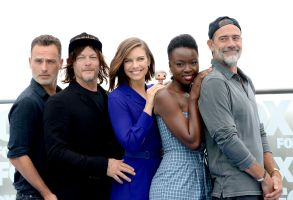 Andrew Lincoln, Norman Reedus, Lauren Cohan, Danai Gurira and Jeffrey Dean Morgan'The Walking Dead' TV show photocall, Comic-Con International, San Diego, USA - 20 Jul 20182018 Comic-Con International: San Diego Day2- FOX International?s THE WALKING DEAD photocall