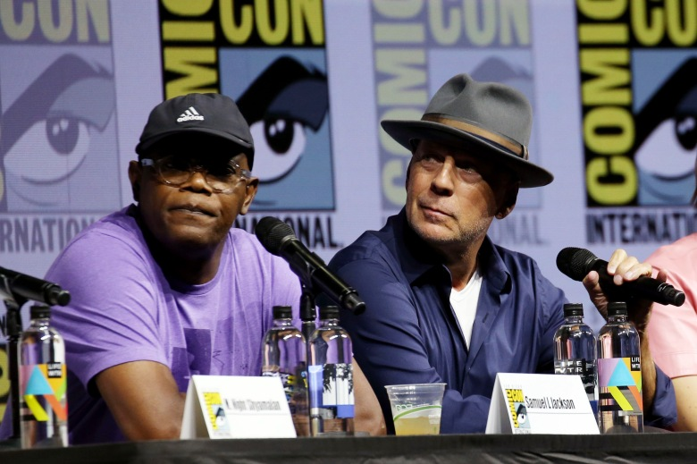 Samuel L Jackson and Bruce Willis'Glass' and 'Halloween' film panel, Comic-Con International, San Diego, USA - 20 Jul 2018