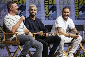 Ruben Fleischer, Riz Ahmed and Tom Hardy'Venom' film panel, Comic-Con International, San Diego, USA - 20 Jul 2018