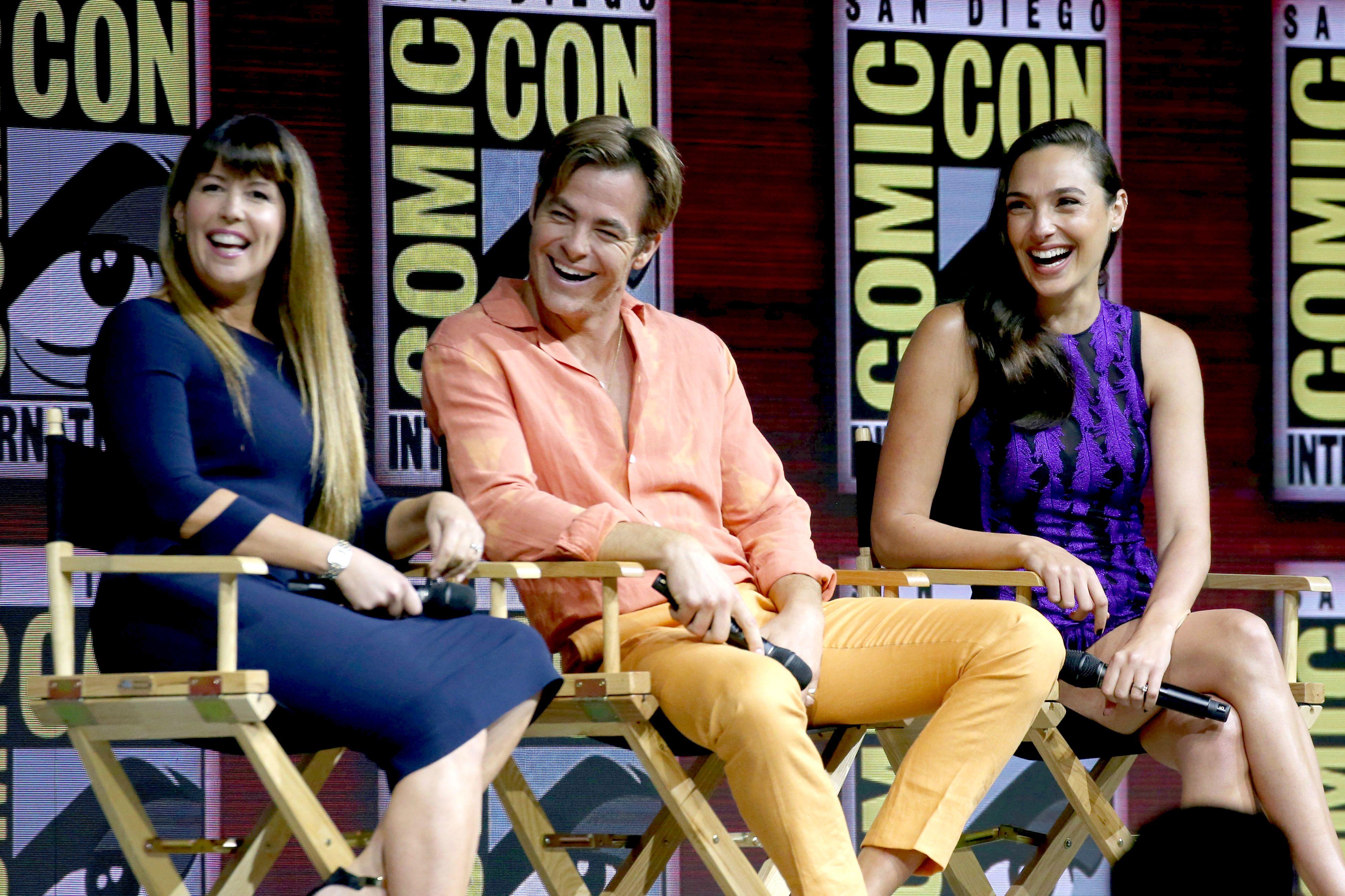 Chris Pine and Gal Gadot'Wonder Woman' film panel, Comic-Con International, San Diego, USA - 21 Jul 2018