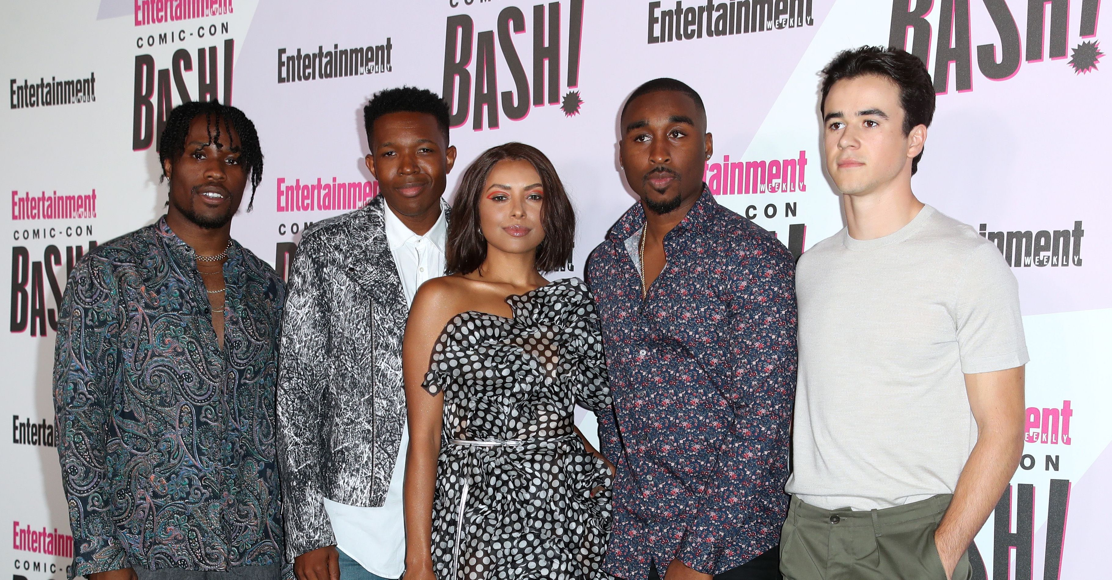 Shameik Moore, Kat Graham, Demetrius Shipp Jr... and guestsEntertainment Weekly party, Comic-Con International, San Diego, USA - 21 Jul 2018