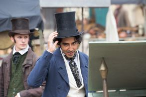 Dev Patel'The Personal History of David Copperfield' on set filming, King's Lynn, Norfolk, UK - 20 Jul 2018Actor Dev Patel was spotted about to get in a fight with a local market trader as he played David Copperfield in a new costume drama yesterday (Fri). The 28-year-old Slumdog Millionaire star was seen walking through the docks at King's Lynn in Norfolk, which were transformed into a Victorian fish market.He was accompanied by Dunkirk actor Aneurin Barnard, who plays his friend Steerforth in The Personal History of David Copperfield. Barnard was seen trying to talk Dev out of the fight as they filmed the movie and did a number of takes yesterday afternoon.