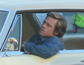 Leonardo DiCaprio'Once Upon a Time' on set filming, Los Angeles, USA - 24 Jul 2018Brad Pitt, Leonardo DiCaprio shooting scenes for the upcoming Movie Once Upon a Time in Hollywood in Los Angeles