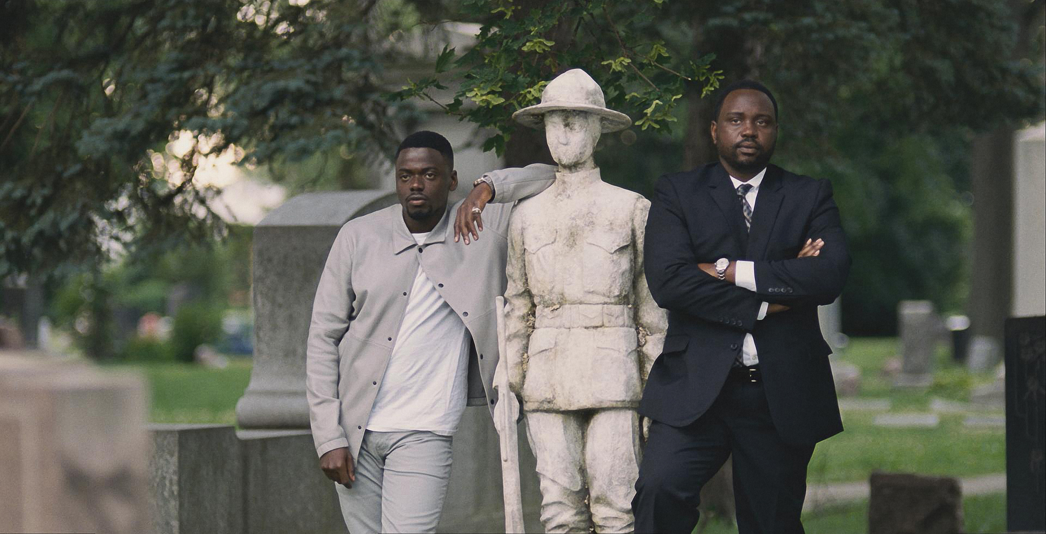 Daniel Kaluuya and Brian Tyree Henry in Twentieth Century Fox's WIDOWS. Photo Credit: Courtesy Twentieth Century Fox.