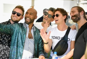 HOLLYWOOD, CA - AUGUST 12: (L-R) Bobby Berk, Karamo Brown, Tan France, Antoni Porowski and Jonathan Van Ness attend Netflix's Queer Eye and GLSEN event at NeueHouse Hollywood on August 12, 2018 in Hollywood, California.  (Photo by Matt Winkelmeyer/Getty Images for Netflix) *** Local Caption *** Bobby Berk;Karamo Brown;Tan France;Antoni Porowski;Jonathan Van Ness