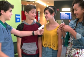 "ANDI MACK - ""Mama"" - Andi learns more about her past on the anniversary of the day Bex left home. Jonah attempts to teach Cyrus how to skateboard. This episode of ""Andi Mack"" airs Friday, November 17 (8:00 - 8:30 P.M. PT) on Disney Channel. (Disney Channel)JOSHUA RUSH, ASHER ANGEL, PEYTON ELIZABETH LEE, SOFIA WYLIE"