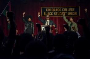 "Laura Harrier and Corey Hawkins in ""BlacKkKlansman"""