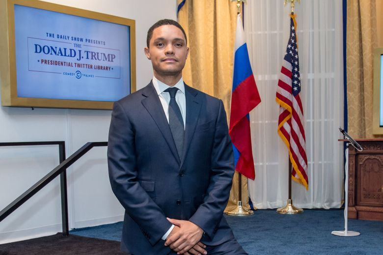 Trevor NoahThe Daily Show Presents: The Donald J. Trump Presidential Twitter Library, New York, USA - 15 Jun 2017