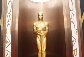 An Oscar statue appears at the Oscars at the Dolby Theatre in Los Angeles. What are TV viewers seeking from their annual Oscar fix? The same thing they want from movies: drama, comedy, sex, slapstick, glamour and romance. This year's Oscarcast airs, at 8 p.m. EST on ABCOscars-Impossible Dream, Los Angeles, USA - 2 Mar 2014