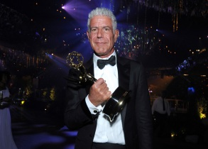 "Anthony Bourdain winner of the award for outstanding informational series or special for ""Anthony Bourdain: Parts Unknown"" attends the Governors Ball during night two of the Creative Arts Emmy Awards at the Microsoft Theater in Los Angeles. Bourdain has been found dead in his hotel room in France, while working on his CNN series on culinary traditions around the worldObit Anthony Bourdain, Los Angeles, USA - 11 Sep 2016"