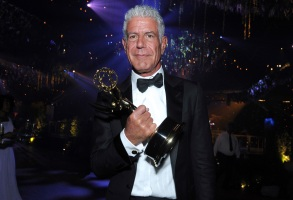 """Anthony Bourdain winner of the award for outstanding informational series or special for """"Anthony Bourdain: Parts Unknown"""" attends the Governors Ball during night two of the Creative Arts Emmy Awards at the Microsoft Theater in Los Angeles. Bourdain has been found dead in his hotel room in France, while working on his CNN series on culinary traditions around the worldObit Anthony Bourdain, Los Angeles, USA - 11 Sep 2016"""