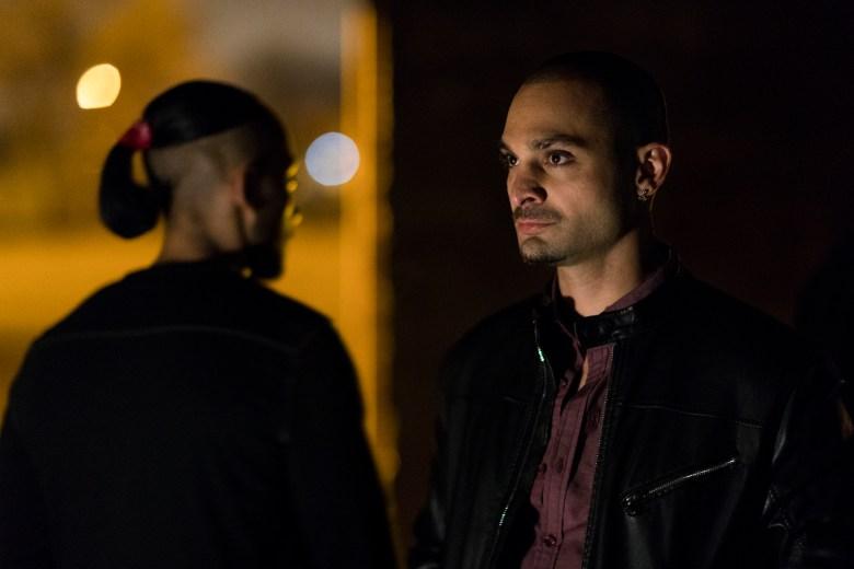 Michael Mando as Nacho Varga, Vincent Fuertes as Arturo - Better Call Saul _ Season 3, Episode 9 - Photo Credit: Michele K. Short/AMC/Sony Pictures Television