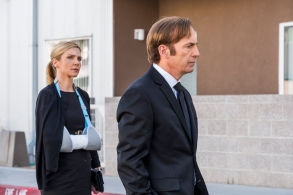 Bob Odenkirk as Jimmy McGill, Rhea Seehorn as Kim Wexler - Better Call Saul _ Season 4, Episode 1 - Photo Credit: Nicole Wilder/AMC/Sony Pictures Television