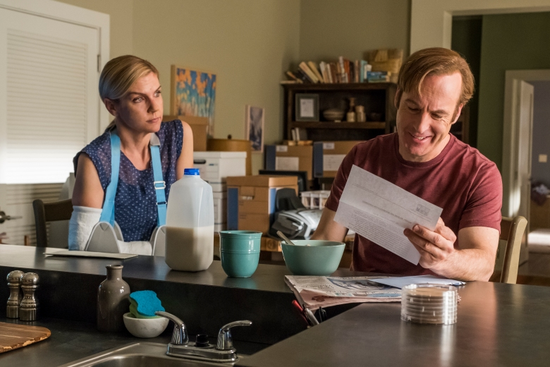 Rhea Seehorn as Kim Wexler, Bob Odenkirk as Jimmy McGill - Better Call Saul _ Season 4, Episode 3 - Photo Credit: Nicole Wilder/AMC/Sony Pictures Television