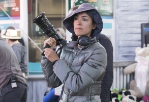 "Emmy nominated cinematographer Paula Huidobro on the set of ""Barry"""