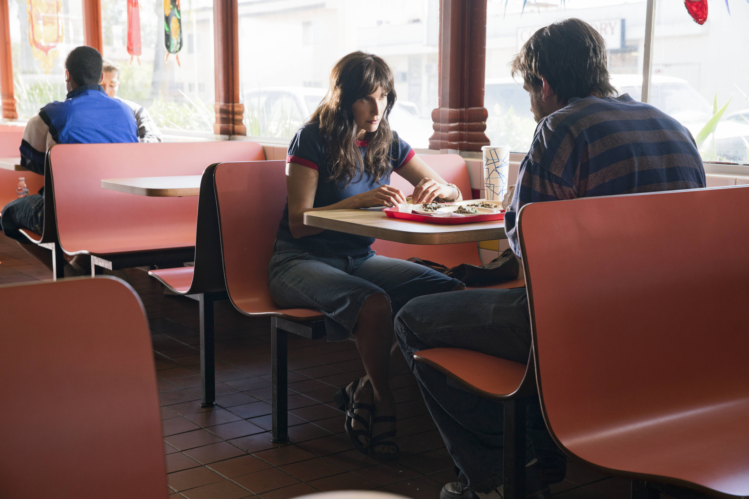 "CASUAL -- ""99"" Episode 312 -- ItÕs 1999. A young Valerie and Alex prepare for an unexpected pregnancy. In present day, Laura visits Casey in Sacramento and ValerieÕs relationship with Jack reaches a breaking point. Valerie (Michaela Watkins), shown. (Photo by: Greg Lewis/Hulu)"