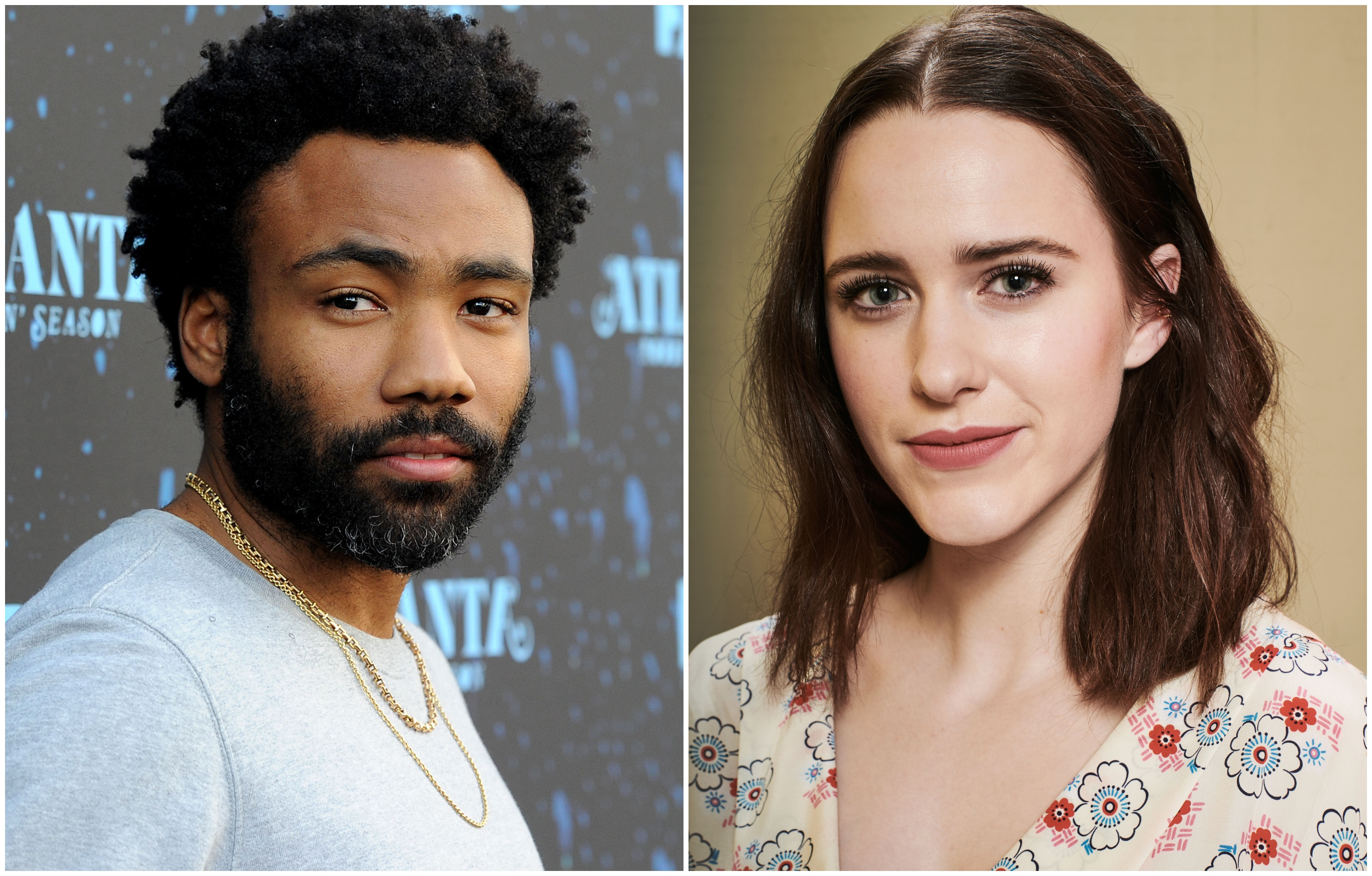 emmys donald glover and rachel brosnahan appear to be comedy locks