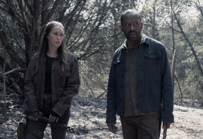 Alycia Debnam-Carey as Alicia Clark, Lennie James as Morgan Jones - Fear the Walking Dead _ Season 4, Episode 9 - Photo Credit: Ryan Green/AMC