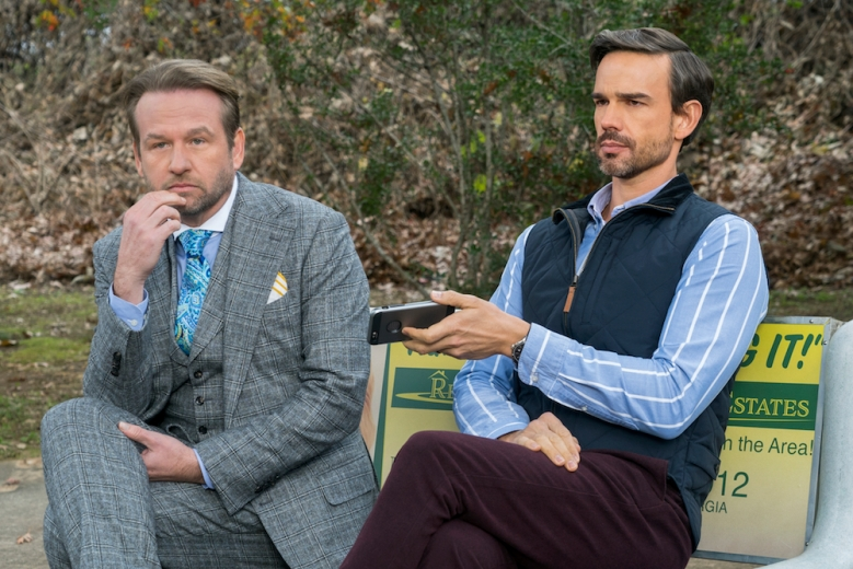 "Dallas Roberts and Christopher Gorham in ""Insatiable"""