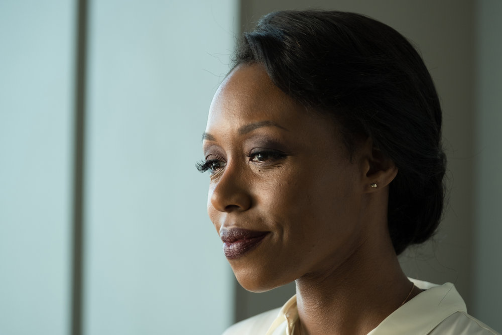 "THE PURGE -- ""What Is America?"" Episode 101 -- Pictured: Amanda Warren as Jane -- (Photo by: Patti Perret/USA Network)"