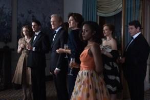 Eleanor Tomlinson as Mary Argyll, Matthew Goode as Philip Durrant, Bill Nighy as Leo Argyll, Anna Chancellor as Rachel Argyll and Crystal Clarke as Tina Argyll