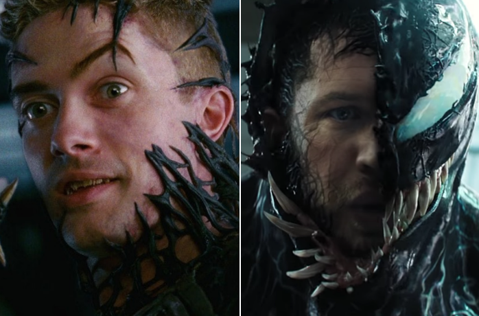 "Topher Grace in ""Spider-Man 3,"" Tom Hardy in ""Venom"""