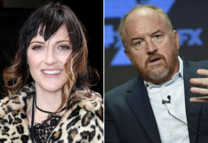 Jen Kirkman and Louis C.K.