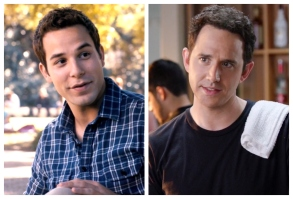 "Skylar Astin in ""Pitch Perfect"" and Santino Fontana in ""Crazy Ex-Girlfriend"""