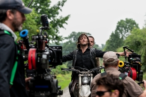 BTS, Norman Reedus as Daryl Dixon, Andrew Lincoln as Rick Grimes - The Walking Dead _ Season 9, Episode 4 - Photo Credit: Gene Page/AMC