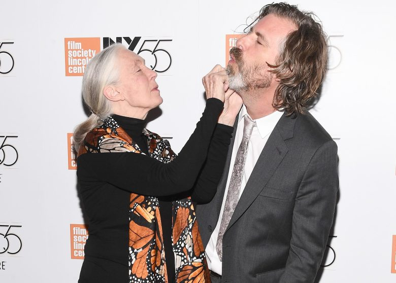 NEW YORK - OCTOBER 5: (L-R) Jane Goodall and Director Brett Morgen attend the NY Film Festival screening of National Geographic's documentary 'Jane' at the Walter Reade Theater on October 5, 2017 in New York City. (Photo by Anthony Behar/NatGeo/PictureGroup)
