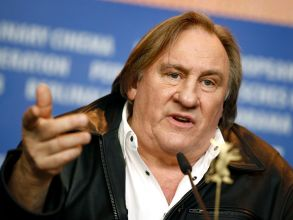 Actor Gerard Depardieu addresses the media during the press conference for the film 'Saint Amour' at the 2016 Berlinale Film Festival in Berlin, GermanyGermany Berlin Film Festival 2016, Berlin, Germany